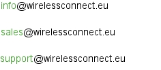 Wireless Connect email addresses